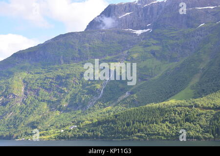 Cruising round Nordfjord, Sogn og Fjordane, Norway 2017 - Stock Photo