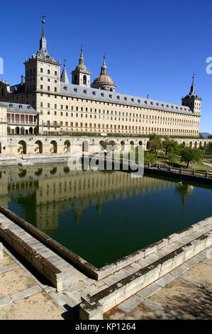 San Lorenzo del Escorial (Madrid) Spain. Monastery of San Lorenzo del Escorial. - Stock Photo