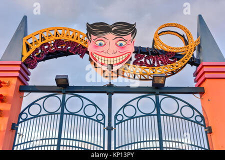 Coney Island Amusement Park in Brooklyn, New York - Stock Photo