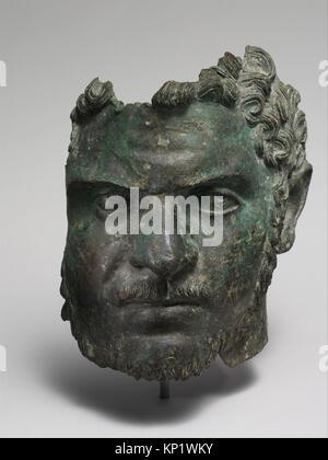 Fragmentary bronze portrait of the emperor Caracalla MET DP120139 255957 - Stock Photo