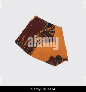 Fragment of a terracotta oinochoe- olpe (jug) MET DP115804 255083 : Attributed to the Gorgon Painter, Fragment of - Stock Photo