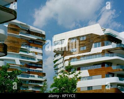 Italy, Lombardy, Milan, CityLife, Zaha Hadid Residences. - Stock Photo