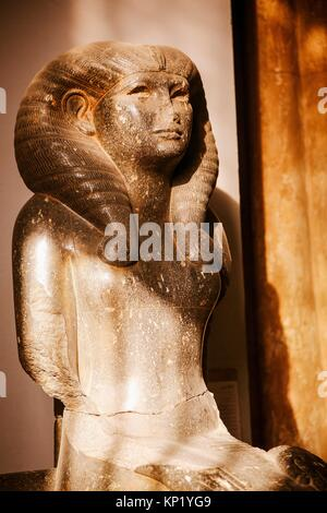 Statue of Queen Nofret, wife of Senusret II, from Tanis. Egyptian civilisation, Middle Kingdom, Dynasty XII. Cairo, - Stock Photo