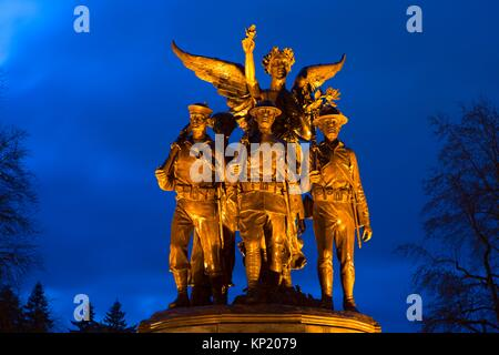 Winged Victory Monument, State Capitol Mall, Olympia, Washington. - Stock Photo