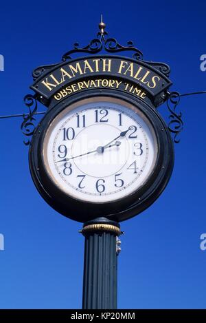 Klamath Falls Observatory Time clock, Klamath Falls, Oregon. - Stock Photo