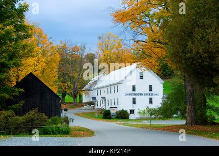 Plymouth Cheese Factory, President Calvin Coolidge Birthplace State Historic Site, Vermont. - Stock Photo
