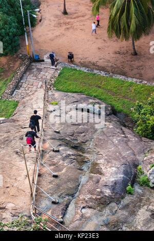 The Way for Aradhana Gala Rock (Meditation Rock), Mihintale Monastery, Anuradhapura District, North Central Province, - Stock Photo