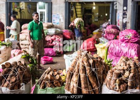 Various Goods at the Market of Dambulla, North Central Province, Sri Lanka, Asia. - Stock Photo