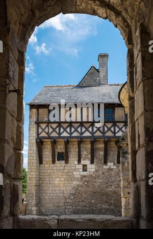 The Prior House from the Chapel of the Church at Saint Cosme Priory also called Home of Ronsard, La Riche, Tours - Stock Photo