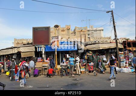 Sandaga market, Dakar, Senegal, West Africa. - Stock Photo