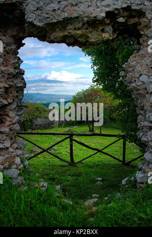 Ancient ruins of Castiglione, near Palombara Sabina, Italy - Stock Photo