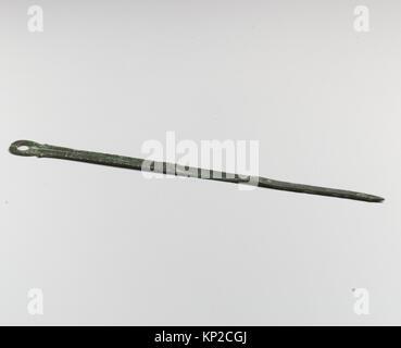 Compass or divider, fragment MET DP20483 250595 Roman, Compass or divider, fragment, Bronze, Other: 5 7/8 in. (14.9 - Stock Photo