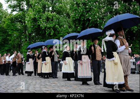 ´´Fete du Muguet´´ (Lily of the valley festival) parade at Rambouillet, Yvelines department, Ile-de-France region, - Stock Photo