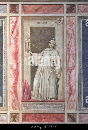 The interior of the Scrovegni Chapel in Padua, Italy, frescoed by Giotto. The Scrovegni Chapel is a church in Padua, - Stock Photo