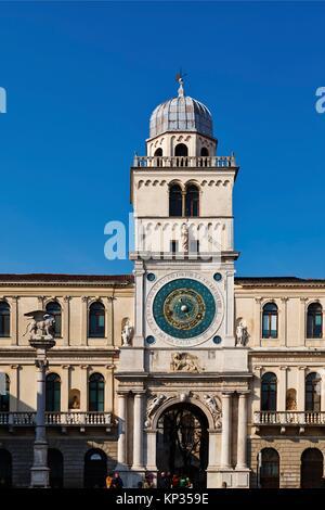 Italy, Veneto, Padua, Piazza dei Signori (Square), the Astronomical Clock Tower - Stock Photo