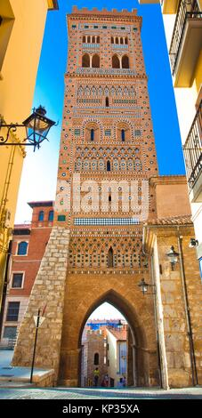 St. Martin´s Tower, Torre Mudejar de San Martín, Teruel, Aragon, Spain - Stock Photo