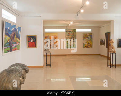 Dilijan museum of local history in Dilijan Armenia, impressive collection of European and Armenian art, interior - Stock Photo