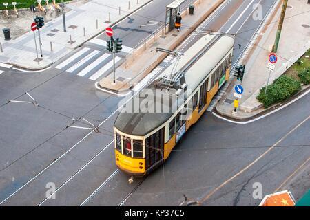Tram, Milan, Lombardy, Italy. - Stock Photo