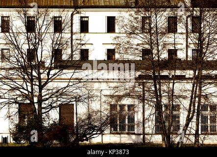 White Factory - Biala Fabryka, constructed in years 1835-1839 to host textile factory which belonged to Ludwik Geyer, - Stock Photo