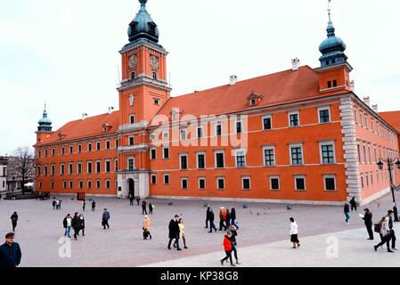 Royal Castle in Warsaw, Zamek Krolewski, Castle Square, Plac Zamkowy, Old Town of Warsaw, UNESCO World Heritage - Stock Photo