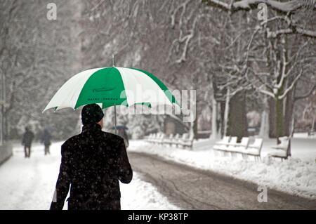 winter in Geneva, Switzerland, Europe - Stock Photo