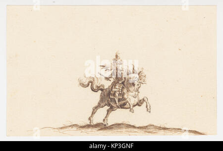 A Horseman MET DP145147 A Horseman MET DP145147 /380397 Artist: Attributed to Hans Caspar N?scheler, Swiss, Zurich - Stock Photo