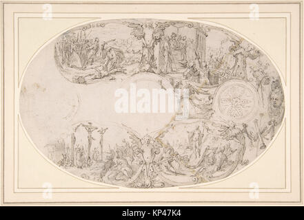 Design for a Silver Vessel with Scenes from the Passion of Christ MET DP801539 343274 - Stock Photo