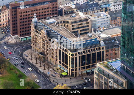 Frankfurt Germany Commerzbank building.Historic old neo-Baroque Building built in 1902 formerly Hotel Fürstenhof - Stock Photo