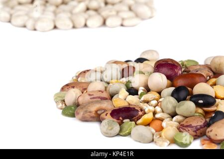 close up image of assorted beans - Stock Photo