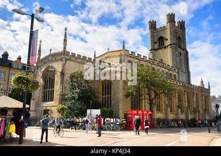 St Mary the Great is a Church of England parish and university church at the north end of King's Parade in central - Stock Photo