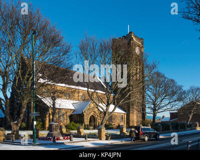 St Marks Church of England Marske by the Sea Cleveland North Yorkshire England UK in winter - Stock Photo