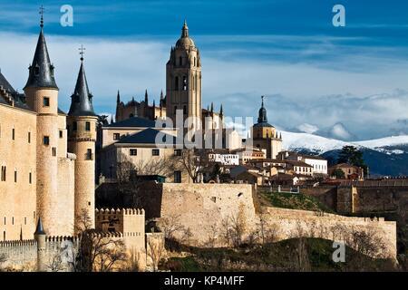 Torre de la catedral de Segovia - Castilla-León - España - Europa. - Stock Photo