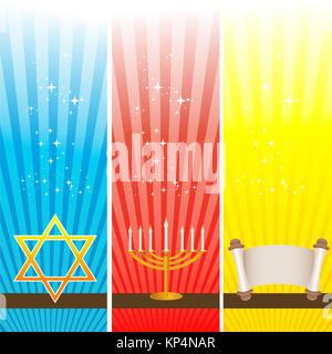illustration of hanukkah card - Stock Photo