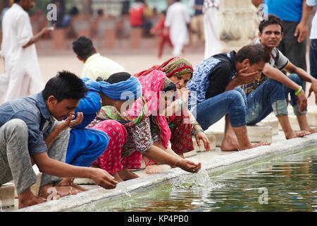 Jama Masjid Mosque, Old Delhi, Delhi, India. - Stock Photo