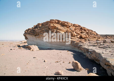 landscape with white rock in damaraland Namibia - Stock Photo