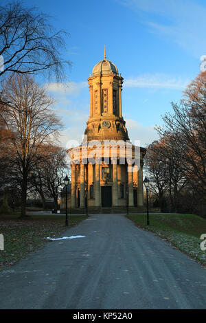 United Reformed Church on Victoria Road, in the UNESCO World Heritage Site of Saltaire, West Yorkshire, UK - Stock Photo