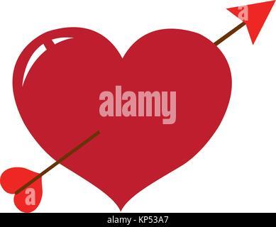 Isolated heart design - Stock Photo