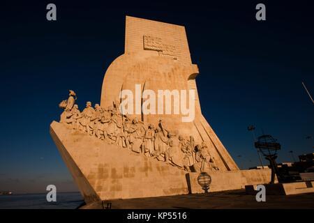 Monument to the Discoveries, Santa Maria de Belém district, Lisbon, Portugal, Europe. - Stock Photo