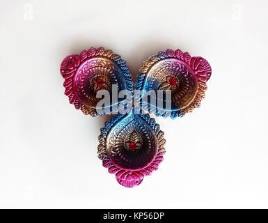 Diwali Design Diya a Indian Religious Festival Object - Stock Photo