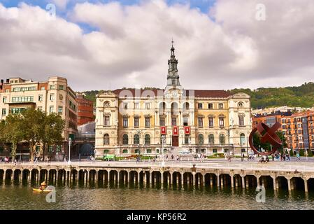 Bilbao City Council, Bilbao, Biscay, Basque Country, Spain, Europe - Stock Photo