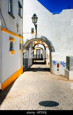 Rua da Barroca, old town of Lagos, Algarve, portugal, Europe - Stock Photo