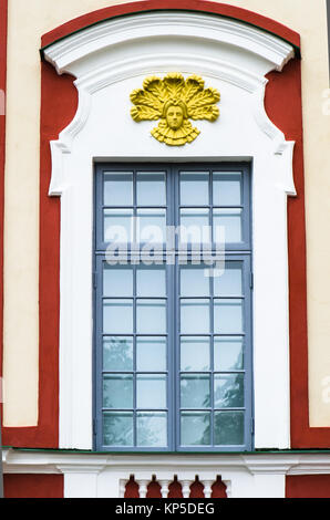 Detail of the facade of the palace building