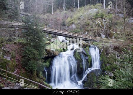 Wasserfall Triberg cascades Black forest Germany. - Stock Photo