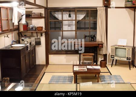 Old house, Shitamachi museum, Tokyo, Japan,Asia. - Stock Photo