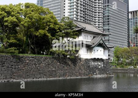 Tokyo Imperial Palace of Japan,Asia. - Stock Photo