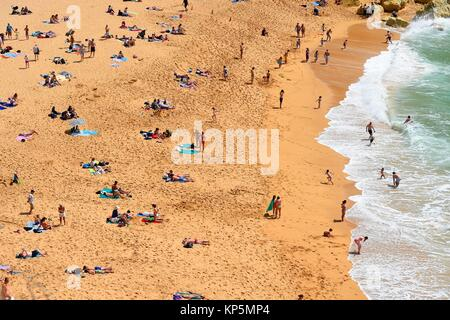 A view of Carvoeiro beach, Algarve, Portugal. - Stock Photo