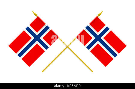 Flags, Norway - Stock Photo