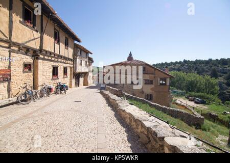 Medieval village of Calatanazor in Soria region, northern. Spain. - Stock Photo
