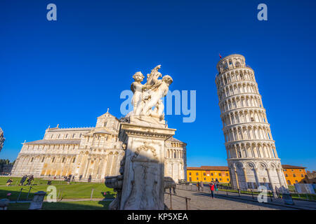 Pisa,The Leaning Tower. Tuscany, Italy. - Stock Photo
