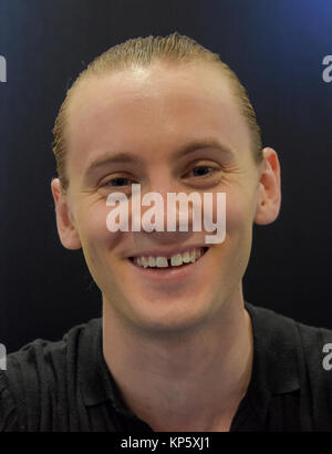 Dortmund, Germany - December 9th 2017: US Actor Bruce Langley (American Gods) at German Comic Con Dortmund. More - Stock Photo